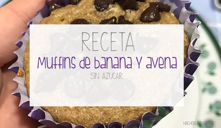 Receta: Muffins con avena y banana, sin azúcar